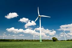 Renewable Energy. Windmills in Germany Royalty Free Stock Photos