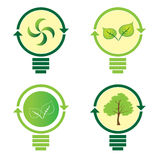Renewable green energy: 4 Light Bulb Stock Photography