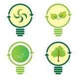 Renewable green energy: 4 Light Bulb Stock Photography