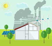 Renewable green energy sources concept Royalty Free Stock Photos