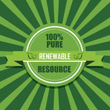 Renewable icon. On special green background royalty free illustration