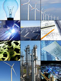 Renewable power and energy Stock Photo