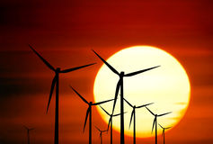 Renewable source of energy royalty free stock photography
