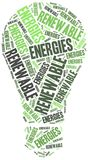 Renewables or renewable energies concept. Stock Images