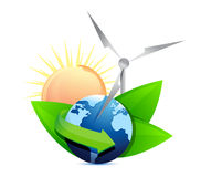 Renewal energy globe concept Royalty Free Stock Image