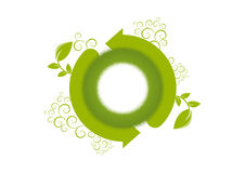 Renewal environment logo. Green renewal environment logo on white background Stock Photo