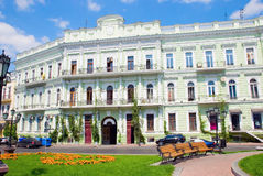 Renewed building. A fasade of an old renewed building in Odessa, Ukraine Stock Image