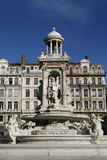 Fountain in Place des Jacobins Royalty Free Stock Image