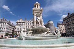 Renewed fountain on Place des Jacobins Royalty Free Stock Image