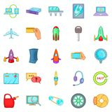 Renewed icons set, cartoon style Stock Images