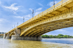 Renewed Margit Bridge in the Budapest Stock Photo