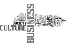 A Renewed View Of The Modern Business Culture Word Cloud Royalty Free Stock Images