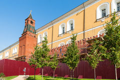 Renewing of the Kremlin walls Royalty Free Stock Images