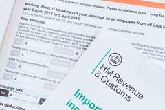 Renewing working tax credit Stock Photo