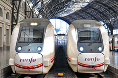 Renfe trains, Spain Stock Image