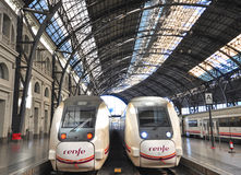Renfe trains, Spain Royalty Free Stock Photos