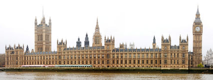 renferme le parlement de Londres Images stock