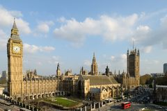 renferme le parlement Westminster de palais de Londres Photos stock
