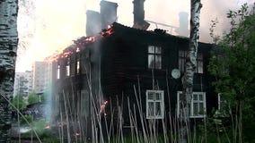 Renfermez l'incendie Situation dangereuse banque de vidéos