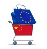 Renflouement de l'Europe avec la Chine achetant la dette européenne illustration libre de droits