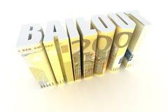 Renflouement de zone euro illustration libre de droits