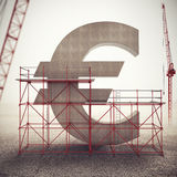 Renforcez l'euro économie rendu 3d Photo libre de droits