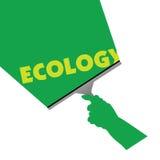 Rengöra för ekologiillustration Fotografering för Bildbyråer