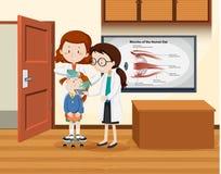 Rengörande flickaöga för doktor vektor illustrationer