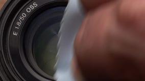 Rengörande kameras lins lager videofilmer
