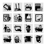 Rengörande svarta symboler Royaltyfria Bilder