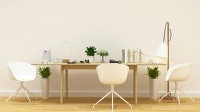 Rengöringdesign för modigt rum eller workspace- tolkning 3D Royaltyfria Foton