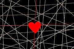 Rengöringsduk av vittrådar med röd hjärta Royaltyfri Bild