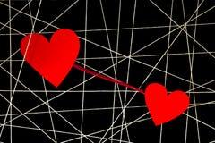 Rengöringsduk av vittrådar med röd hjärta Royaltyfri Fotografi