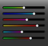 Rengöringsduk dynamiska GUI-glidare för applikation Royaltyfri Bild