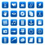 rengöringsduk för 3 knappsymboler Fotografering för Bildbyråer