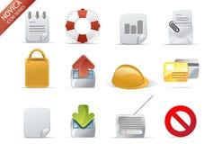 rengöringsduk för 7 symbolsnovicaserie Arkivfoton