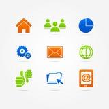 Rengöringsduk för internet för symbol för affärsuppsättningknapp Royaltyfria Bilder