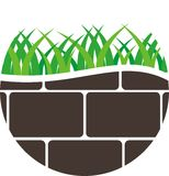 rengöringsduk för jordklotlogovektor Royaltyfri Fotografi