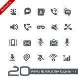 Rengöringsduk- & för mobil Icons-1 //grunderna Royaltyfri Foto