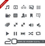 Rengöringsduk- & för mobil Icons-7 //grunderna Arkivfoton