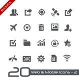 Rengöringsduk- & för mobil Icons-2 //grunderna Arkivfoton