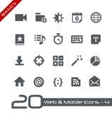 Rengöringsduk- & för mobil Icons-4 //grunderna Royaltyfria Bilder