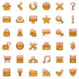 rengöringsduk för orange för 36 symboler set Arkivfoton
