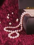 rengöringsduk för pärla för daggmorgonhalsband Royaltyfri Foto