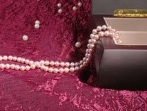 rengöringsduk för pärla för daggmorgonhalsband Arkivfoto