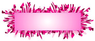 rengöringsduk för pink för modelogosida vektor illustrationer
