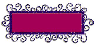 rengöringsduk för purple för logosidapink stock illustrationer