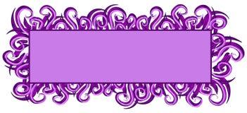 rengöringsduk för swirls för logosidapurple stock illustrationer