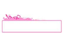rengöringsduk för vektor för lokal för blogdesigntitelrad Royaltyfri Fotografi