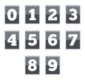 rengöringsduk för vektor för symbolsnummer set Royaltyfria Foton